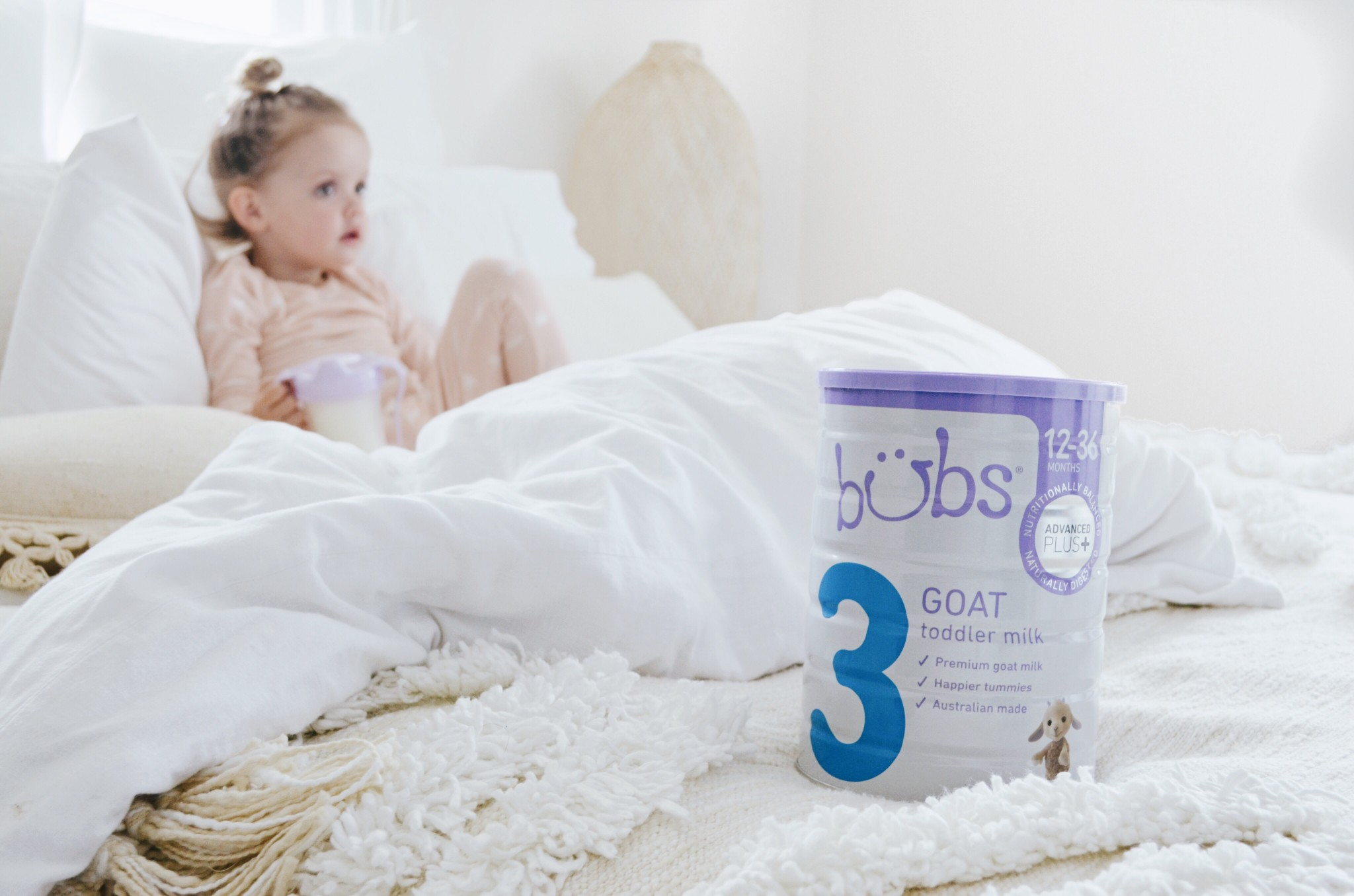 Bubs Goat Toddler Milk for the win.